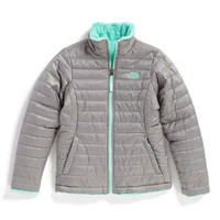 The North Face Girl's 'Mossbud Swirl' Reversible Water Repellent Jacket,