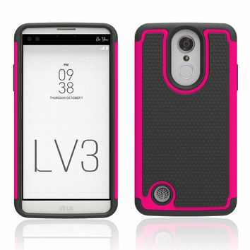 2 in 1 Dual Layer Hybrid Rugged Tough Case Fundas Capa Shockproof Silicone Hard PC Phone Cover For LG Aristo LV3 MS210/K8 2017 @