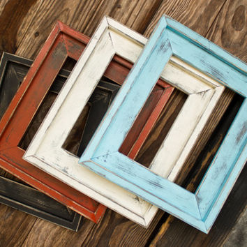 farmhouse distressed frame rustic picture frame hand painted stacked large variety of
