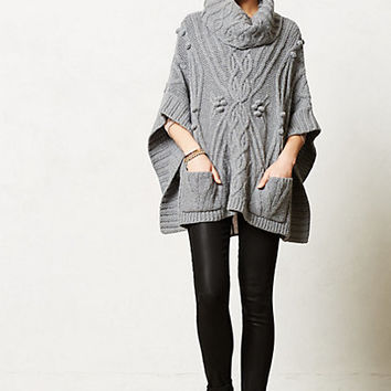 Cabled Cowl Poncho