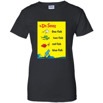 Dr. Seuss One Fish Two Fish Book Cover T-shirt