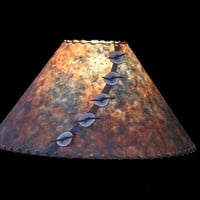 Blue & Rust Lamp Shade