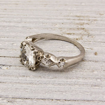 104 Carat Old European Cut Diamond Engagement by ErstwhileJewelry