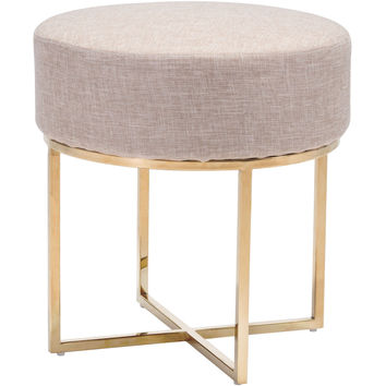Bon Stool, Beige & Stainless