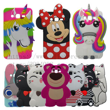For Samsung Galaxy Grand Prime 3D bear Cartoon Silicone Case For Samsung Galaxy Grand Prime Cover For Samsung Grand Prime G530