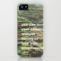 You Can Love Your Country iPhone Case by Mad Dope | Society6