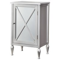 Hollywood Mirrored One Door Accent Cabinet