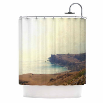 "Sylvia Coomes ""Sea Dream "" Yellow Coastal Shower Curtain"