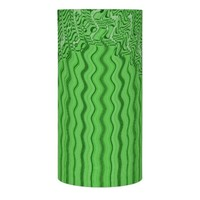 Unique Green Lines Abstract Design Flameless Candle