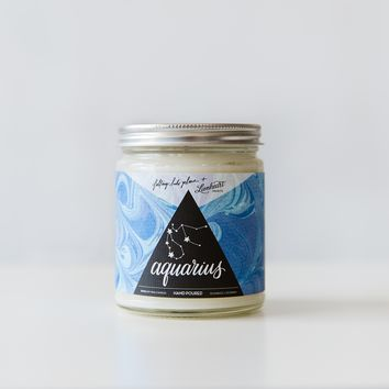 Zodiac Astrology Candle - Aquarius