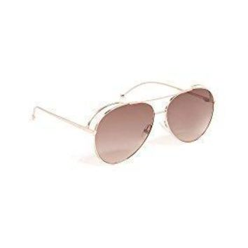 Fendi Women's Double Rim Aviator Sunglasses