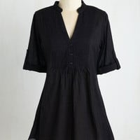 Long 3 Back Road Ramble Tunic in Black