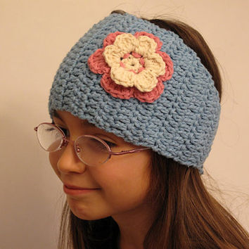 Crochet Girls Headwrap