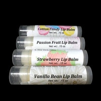 Natural Lip Balm Gift Set, Choose 4 Flavored Lip Balms, Gift under 15