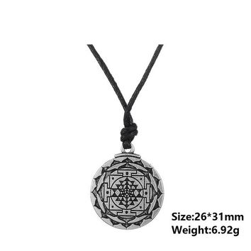 Flower of Life Pendant With Rope Chain