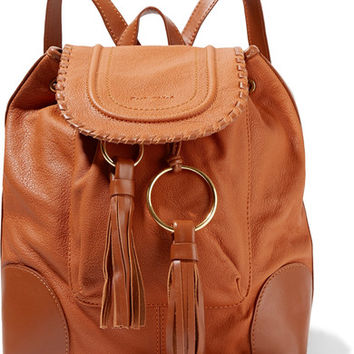 See by Chloé - Polly tasseled textured-leather backpack