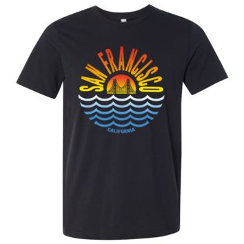 San Francisco Sunset Asst Colors Mens Lightweight Fitted T-Shirt/tee