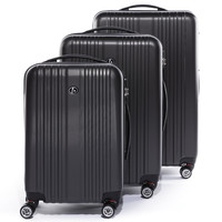 Ferg trolley-set: 3 suitcases cases Toulouse hard-shell luggage - 4 spinner wheels anthracite-matt '