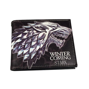 New Fashion Game of Thrones Short Wallets with Card Holder PU Leather,