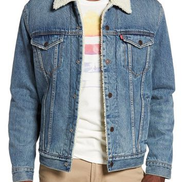 Levi's® Sherpa Fleece Lined Denim Trucker Jacket | Nordstrom