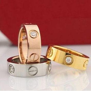 Cartier men and women couples exquisite fashion rings F