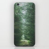 Path through the Fir forest iPhone & iPod Skin by Errne