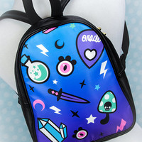 Pastel Oracle Printed Witchy Occult Supplies Mini or Full Size Backpack