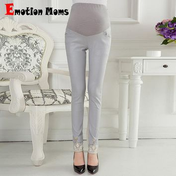 Emotion Moms Style Maternity Pants Skinny pregnancy Pants cotton Maternity trousers For Pregnant Women Pregnancy Capris