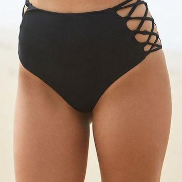 LMFON Young and Reckless x PacSun Strappy High Rise Bikini Bottom