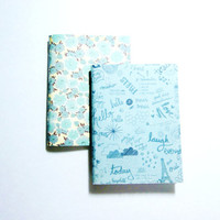 Mini Notebooks | Pocket Journals | Blue Jotters | Floral Notebook | Cahiers | Unlined Notebooks | Cute Notebooks | Pocket Notebooks | Paris