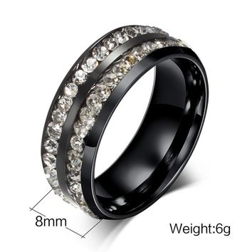 Titanium Steel Ring Men Women Wedding Band Silver Gold Size Black 10
