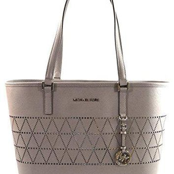 MICHAEL Michael Kors Women's Jet Set Travel Carry All Medium TOTE Leather Handbag Michael Kors bag