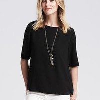 Monogram Drapey Top