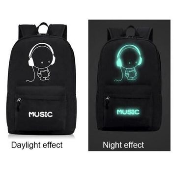 Cool Backpack school Coolbaby Brand Oxford School Bag Night Fluorescent Light School Backpacks for Teenagers High-capacity Child Schoolbags M733 AT_52_3