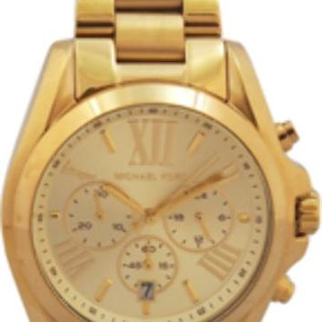 michael kors - mk5605 bradshaw gold-tone watch (1 pc)
