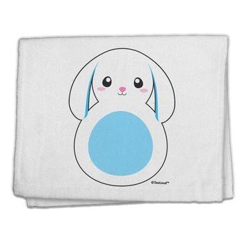 "Cute Bunny with Floppy Ears - Blue 11""x18"" Dish Fingertip Towel by TooLoud"