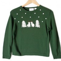 Shop Now! Ugly Sweaters: Sheep with Antlers Tacky Ugly Christmas Sweater Women's Petite Size Small (PS) $18 - The Ugly Sweater Shop