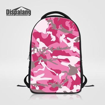 Cool Backpack school Dispalang Brand Women's Laptop Backpacks Cool Camo Print Ladies Backpack Large School Bags for Teenagers Girls Book Bag Mochila AT_52_3