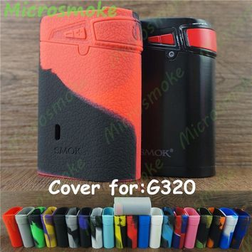 SMOK G320 Marshal 320W TC Mod silicone case skin sleeve cover sticker rubber box mod decal for free shipping tfv8 big baby