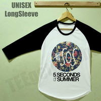 5SOS Shirt 5 Second of Summer Flowers Shirt Raglan Shirt Unisex Size S M L