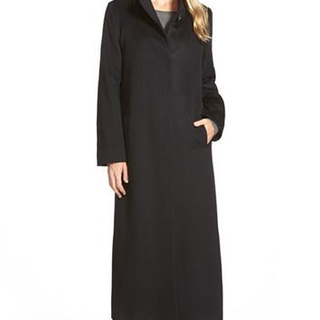 Women's Fleurette Long Loro Piana Wool Coat,