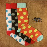Polka Dot Fashion Dress Socks
