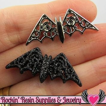 Jesse James Buttons 7 pc BEWITCHING BATS OR Turn them Into Decoden Cabochons