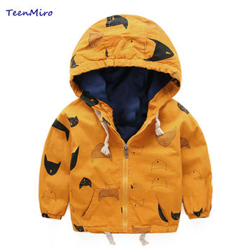 Kids Toddler Boy Jacket Spring Autumn Hooded Coat Baby Clothes For Children Outerwear Windbreaker Boys blazer Parka Clothing