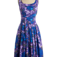 Emily and Fin Pinup Long Sleeveless A-line Fun and Video Games Dress in Floral