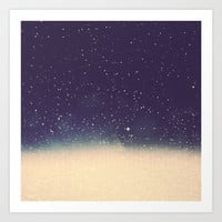 Star drops Art Print by Printapix