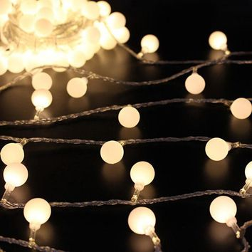 5/10M 40/80Pcs LED String Globe Star Fairy Light for Wedding Christmas Decoration