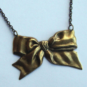 Bow Necklace  The Original Belle Victorian Bow  by SimplyChacha