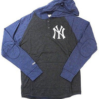 New York Yankees Mitchell & Ness Pullover Hoodie Charcoal Size L