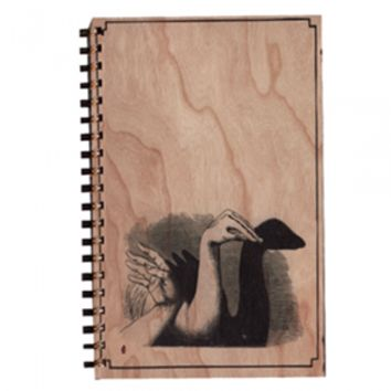Wood Notebook Shadow Swan Large